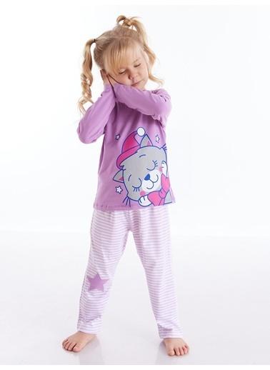 Denokids Pijama Takım Lila